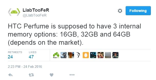 LlabTooFeR tiết lộ thông tin về bộ nhớ trong của HTC One M10