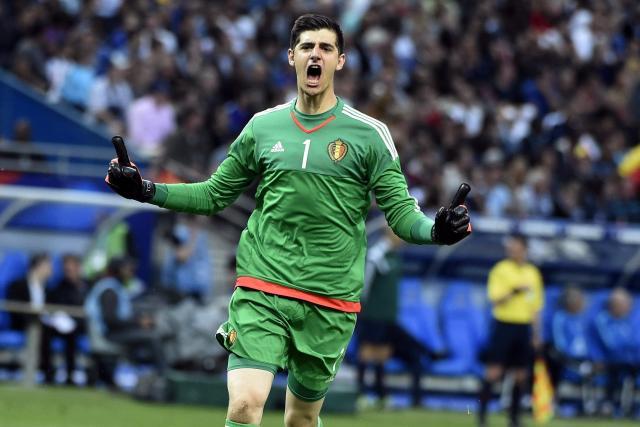 Dù tuổi trẻ nhưng Courtois có vai trò rất lớn trong ĐT Bỉ tại EURO 2016. Ảnh: Getty