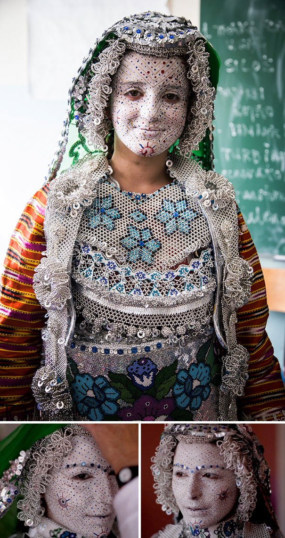 Cô dâu ở Gora (khu vực nằm giữa Kosovo và Macedonia)
