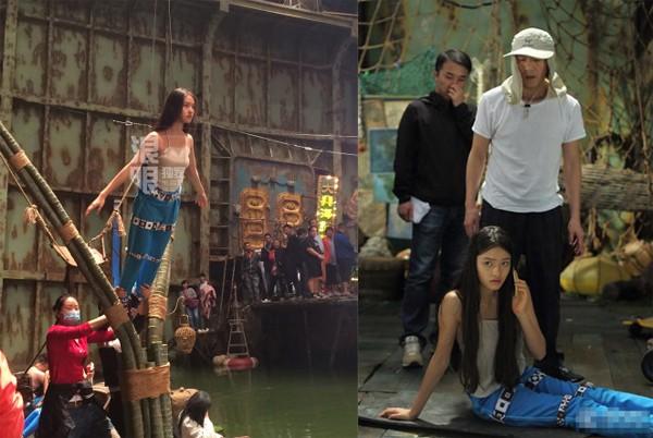 Châu Tinh Trì chỉ đạo trên phim trường Mỹ nhân ngư. Ảnh: QQ.