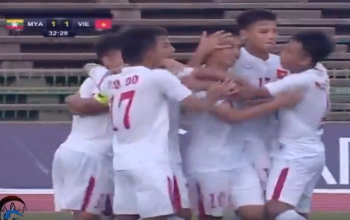 U16 Việt Nam đã có chiến thắng tưng bừng trước U16 Myanmar