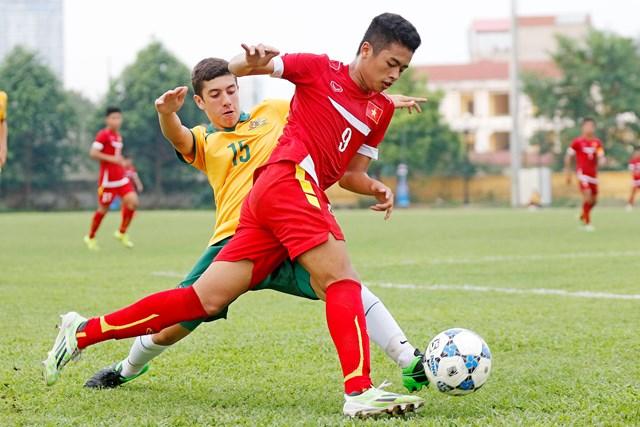 U16 Việt Nam (áo đỏ) đang được kỳ vọng rất lớn tại giải U16 Đông Nam Á lần này. Ảnh: VFF