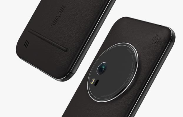 ZenFone Zoom còn gây ấn tượng với mặt lưng máy được ốp da thật