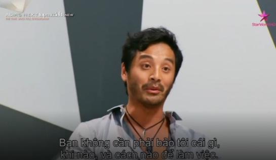 Giám khảo Yu Tsai tỏ rõ thái độ không hài lòng trước lời nói của thí sinh Angie.