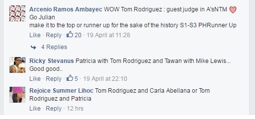 Khán giả nhắc tới trai đẹp ở Asias Next Top Model tuần qua trên fanpage.