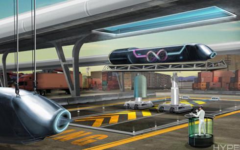 Hình minh họa toa vận tải siêu âm Hyperloop. Ảnh: Hyperloop Technologies