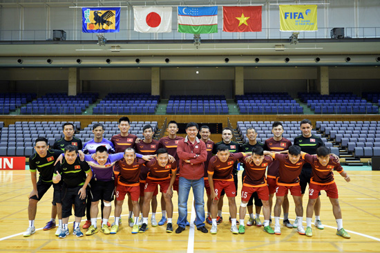 ĐT futsal Việt Nam tự tin trước trận tái đấu với Nhật Bản (Ảnh: VFF)