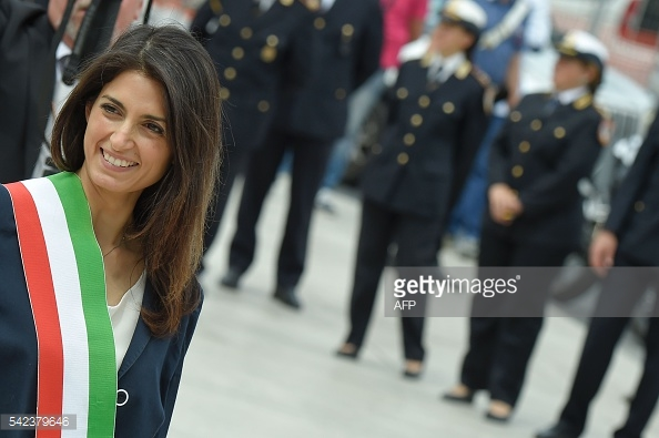 Bà Virginia Raggi, tân Thị trưởng Rome.