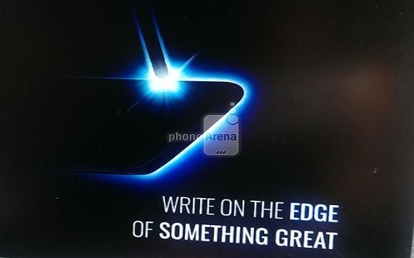 Hình ảnh rò rỉ từ quảng cáo mẫu Galaxy Note mới (Ảnh: PhoneArena)