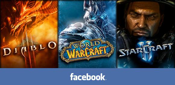 Những tựa game đình đám của Blizzard như Diablo 3, World of Warcraft hay StarCraft 2 sẽ sớm cho phép game thủ đăng nhập qua Facebook