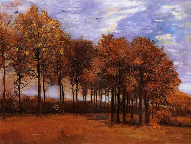 """Bức """"Phong cảnh mùa thu"""" của danh họa Vincent Van Gogh."""