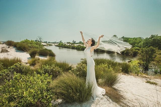 Bối cảnh chụp ảnh cưới được Quỳnh Nga và tân lang của mình lựa chọn rất kỹ.