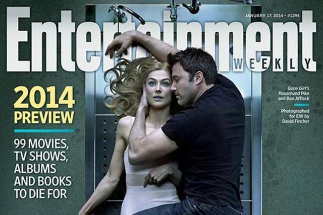 Cặp đôi Ben Affleck và Rosamund Pike trên bìa tạp chí Entertaiment Weekly trong chiến dịch quảng bá cho phim.