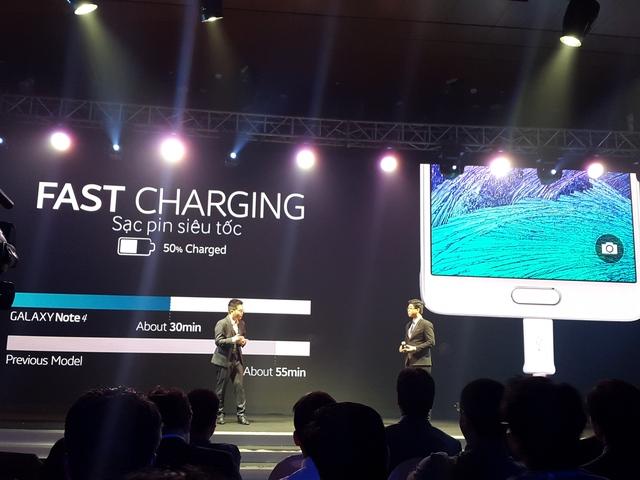 Tính năng sạc pin siêu tốc của Galaxy Note 4