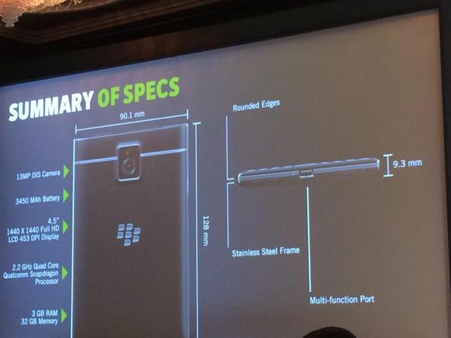 Tổng quan về cấu hình của BlackBerry Passport