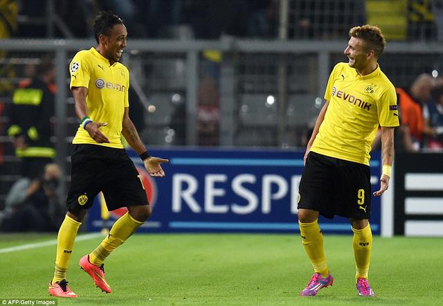 Cặp tiền đạo Immobile và Aubameyang được bình chọn chơi hay nhất trận đấu