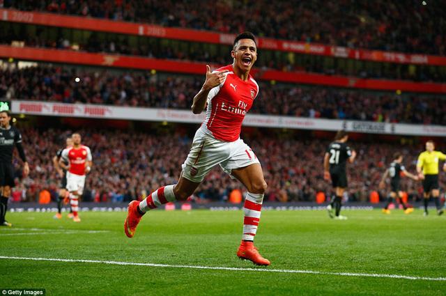 Alexis Sanchez đang thể hiện phong độ rất cao, góp phần không nhỏ cho sự tiến bộ thời gian gần đây của Arsenal.
