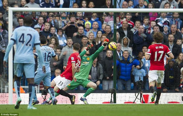 Aguero là người mang về bàn thắng duy nhất cho Man City ở trận này.
