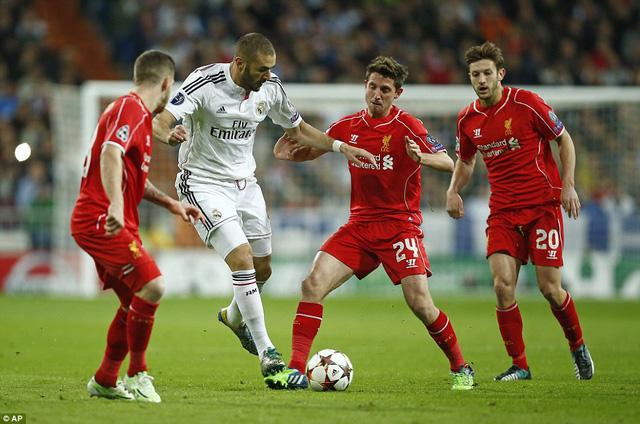 Các chân sút Real Madrid phung phí khá nhiều cơ hội ở trận đấu này.