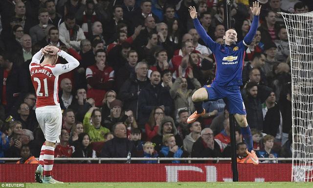 Trận thua trước M.U là thất bại thứ 2 liên tiếp của Arsenal