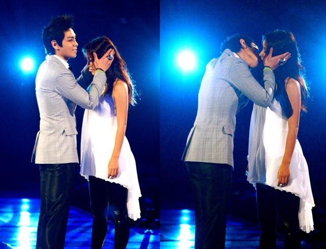 Top bất ngờ hôn Lee Hyo Ri ngay trên sân khấu của MAMA.