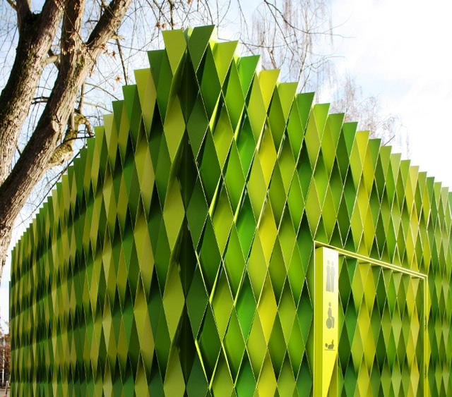 Nhà vệ sinh công cộng ở Uster, Thụy Sĩ. Thiết kế: Gramazio & Kohler.
