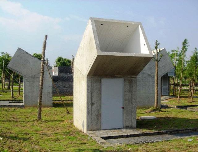 Nhà vệ sinh công cộng ở Tỉnh Chiết Giang, Trung Quốc. Thiết kế: DnA Design and Architecture.