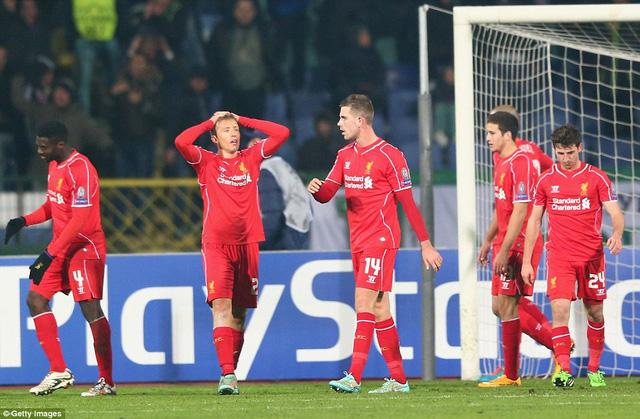 Liverpool bị gỡ hòa ở phút 88