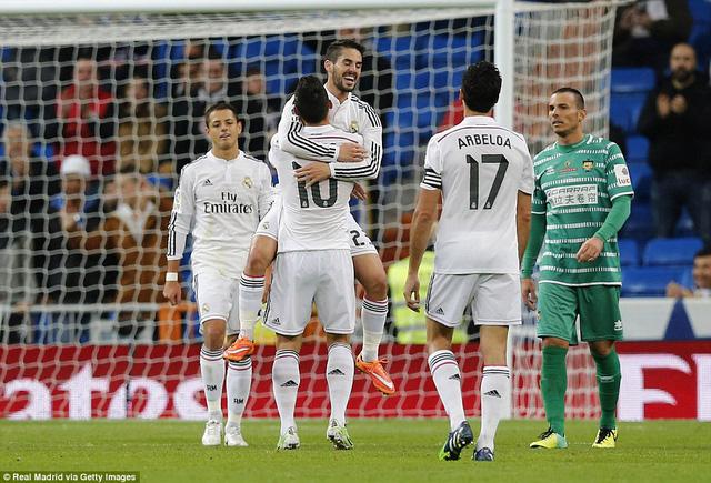 Đây đã là trận thắng thứ 17 liên tiếp của Real Madrid