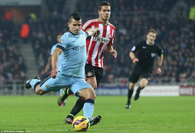 Aguero đã có 14 bàn thắng/14 vòng  tại Premier League
