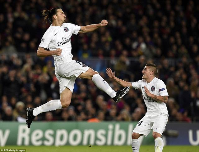 Ibrahimovic mở tỷ số ở ngay phút 15