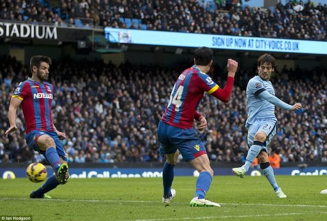David Silva được xem là ngôi sao sáng nhất trong đội hình tiêu biểu vòng 17 Premier League
