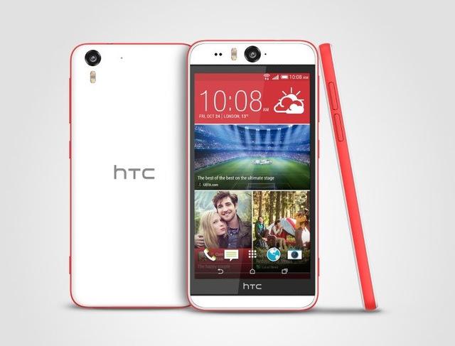 HTC Desire Eye màu trắng viền đỏ