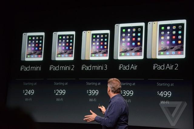 """Táo Khuyết cũng hạ giá mạnh mẽ những mẫu máy tính bảng """"đời trước""""."""
