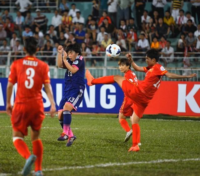 Tuyển nữ Việt Nam toàn thua Nhật Bản trong những lần gặp nhau chính thức trước đây.