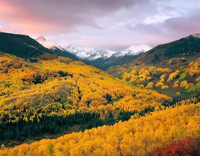 Từ màu xanh mơn mởn, thung lũng chuyển vàng đầy ấn tượng khi thu đến