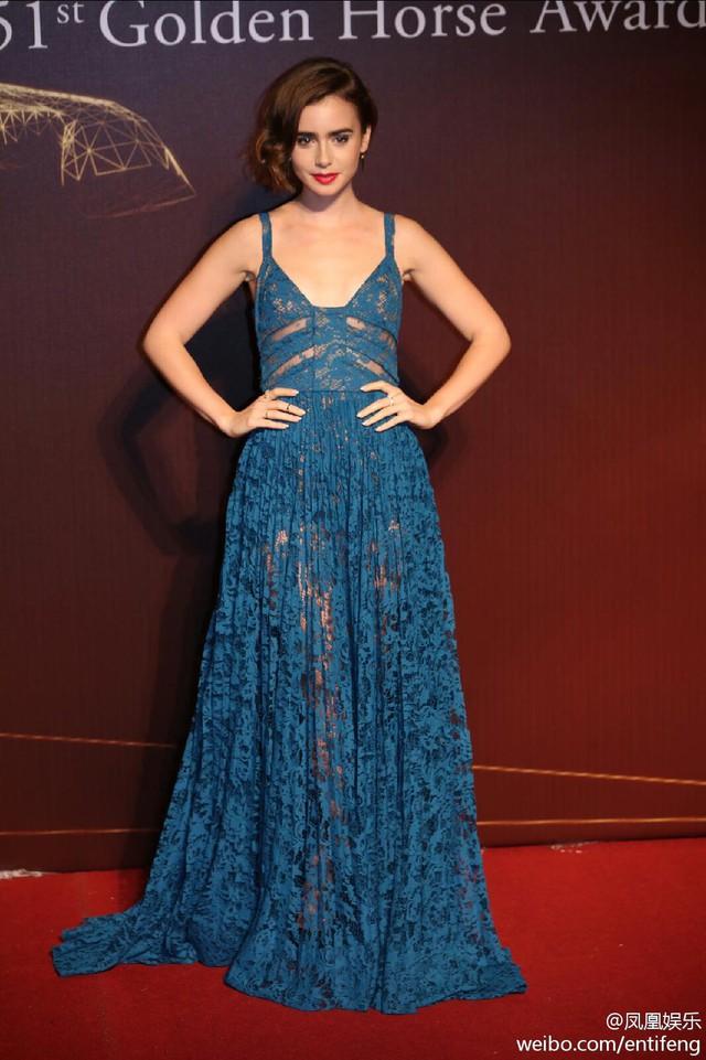 Đến tham dự lễ trao giải Kim Mã, Lily Allens diện bộ váy ren xuyên thấu vô cùng quyến rũ