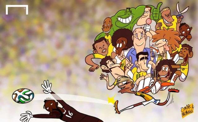 Neymar gánh cả ĐT Brazil trên lưng và đưa chủ nhà World Cup 2014 vào đến bán kết giải đấu danh giá nhất hành tinh này