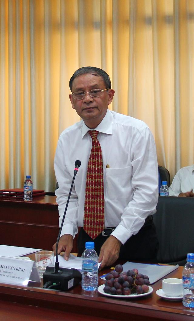 Ông Mai Văn Bình - Chủ tịch Mobifone phát biểu