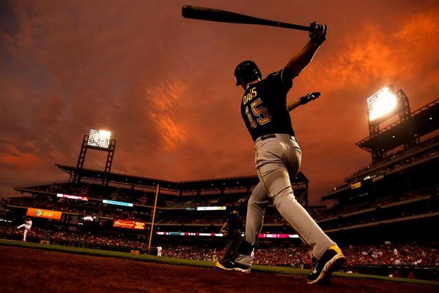Vận động viên bóng chày Ike Davis ở Philadelphia, Mỹ. (Nguồn: AP)