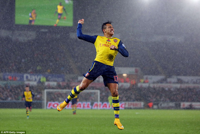Alexis Sanchez  ghi bàn song Arsenal vẫn tiếp tục gây thất vọng
