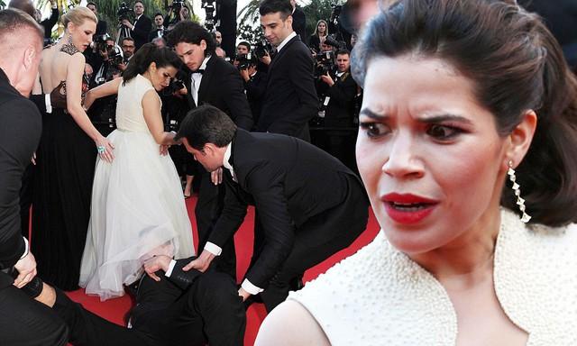 Nữ diễn viên America Ferrera bị tấn công tại buổi công chiếu bộ phim Bí kíp luyện rồng 2