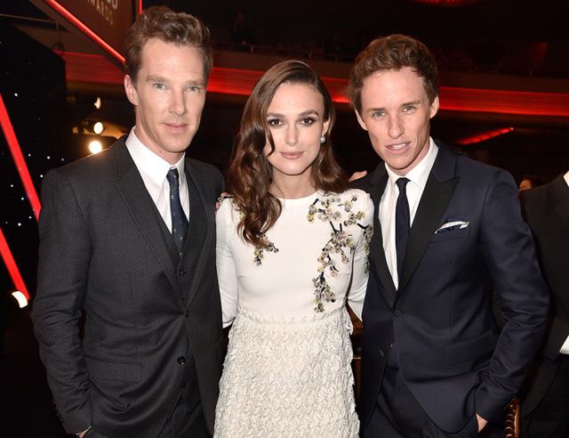Benedict Cumberbatch, Keira Knightley và Eddie Redmayne