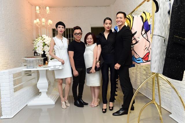 DV Trương Ngọc Ánh, siêu mẫu Xuân Lan chung vui cùng NTK Công Trí