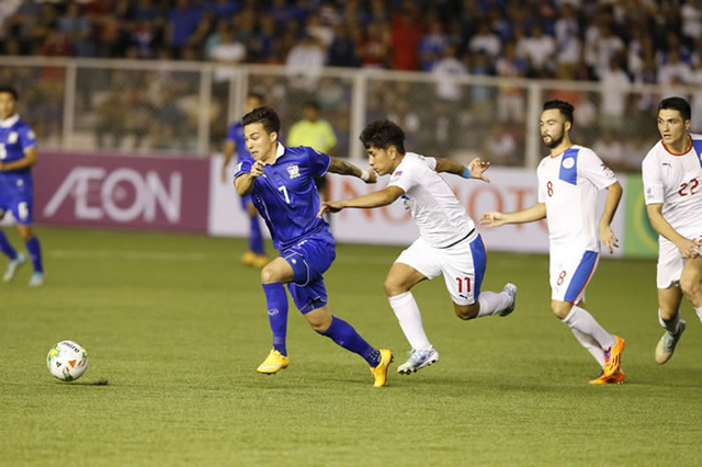 ĐT Thái Lan (xanh) đặt mục tiêu vào chơi trận chung kết và vô địch AFF năm nay. Ảnh: AFF