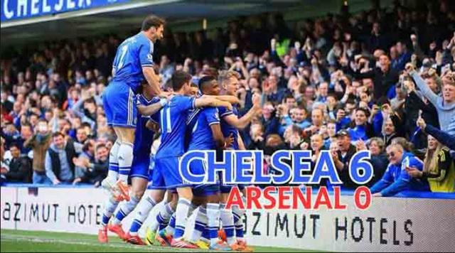 Chelsea đã thắng Arsenal 6-0 vào mùa giải năm ngoái