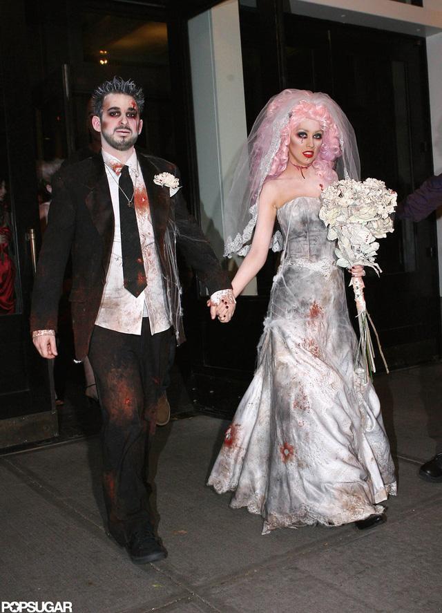 Cristina Aguilera và Jordan Bratman tổ chức một đám cưới zombie