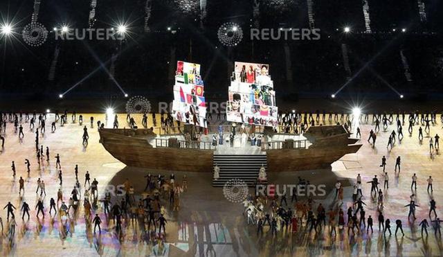 Hình ảnh chở 45 quốc gia và vùng lãnh thổ đã thể hiện rõ thông điệp đại đoàn kết châu Á của kỳ Á vận hội lần thứ 17 - Incheon 2014.