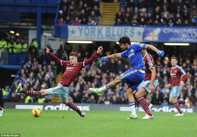 Diego Costa ấn định thắng lợi 2-0 ở phút 62.