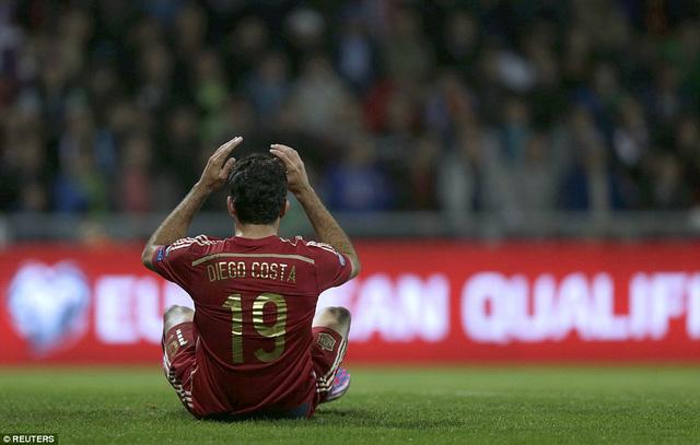 Diego Costa vẫn thi đấu không thành công tại đội tuyển Tây Ban Nha